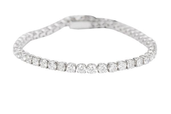 BA14702 Diamond Line Bracelet set with Brilliant Cut Diamonds in 18ct White Gold ( 8.02ct )