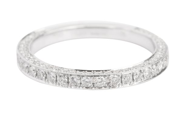 TP13510 Three Sided Three Quarter Eternity Ring Diamond Set in 18ct White Gold