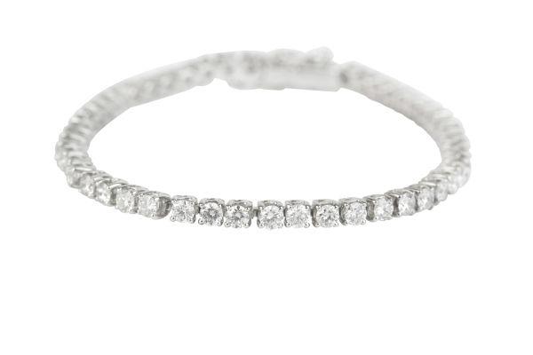 BA14701 Diamond Line Bracelet set with Brilliant Cut Diamonds in 18ct White Gold ( 5.00ct )