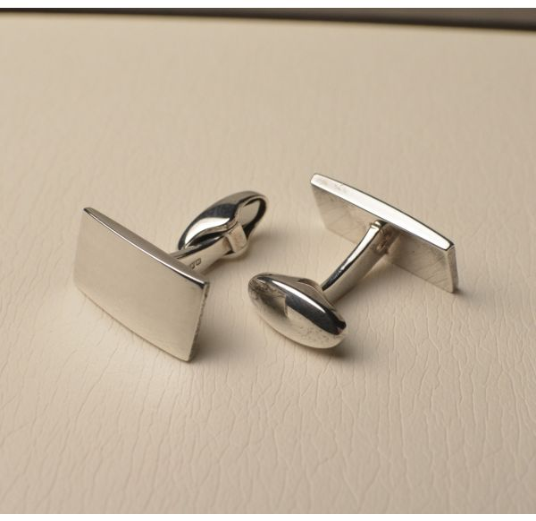 Sterling Silver Hallmarked Cufflinks - Rectangular