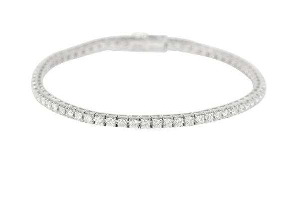 ER13703 Diamond Line Bracelet set with Brilliant Cut Diamonds in 18ct White Gold ( 2.45ct )