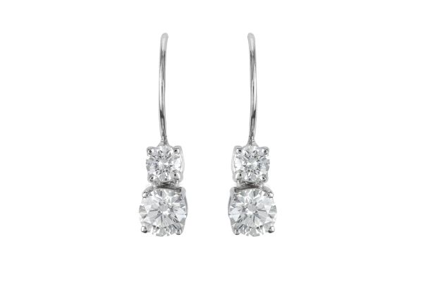ER14633 Diamond Drop Earrings in 18ct White Gold