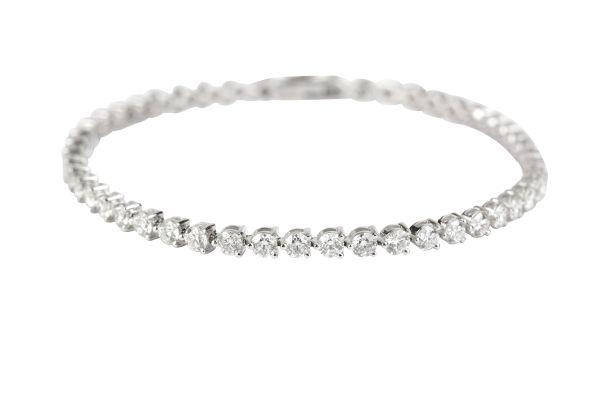 FD8701 Diamond Line Bracelet set with Brilliant Cut Diamonds in 18ct White Gold ( 5.00ct )