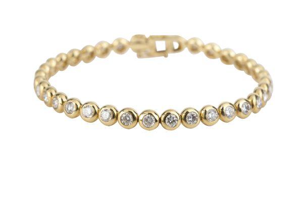 NCJ3770 Diamond Line Bracelet in 18ct Yellow Gold ( 3.96ct)