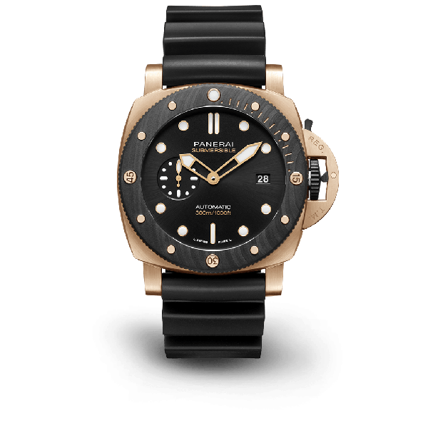 """Submersible Goldtech """"Orocarbo"""" 44mm"""