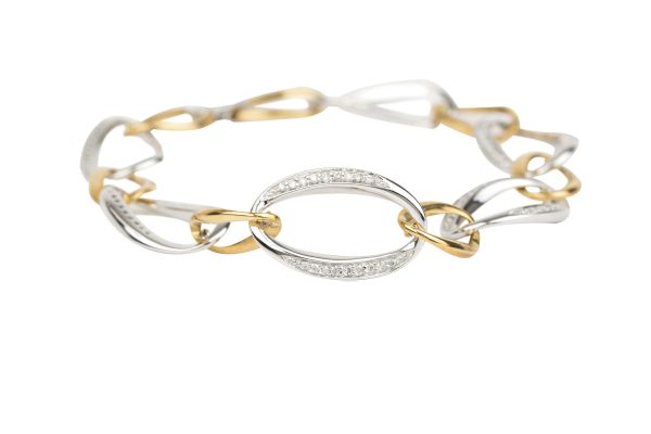 SN5721  Diamond set Bracelet in 18ct White & Yellow Gold ( 0.76ct )