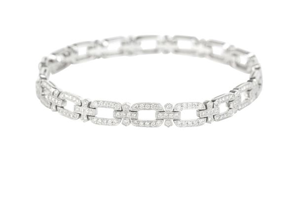 TP3765 Art Deco Style Diamond set Bracelet in 18ct White Gold (2.19ct )