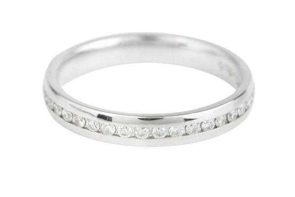 ET501 Diamond Full Eternity Channel set Ring in Platinum (0.42ct)