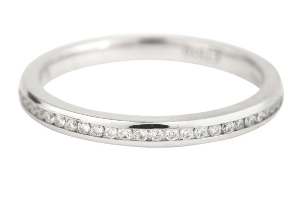 ET510 Diamond Full Eternity Fine Ring in 18ct White Gold (0.27ct)