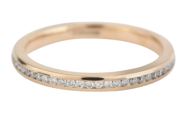 ET510 Diamond Full Eternity Fine Ring in 18ct Rose Gold (0.28ct)
