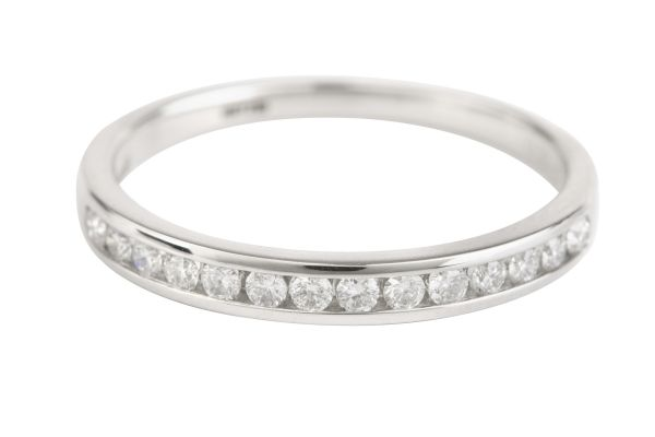 HET728 Diamond Half Eternity Channel set Ring in Platinum (0.20ct)