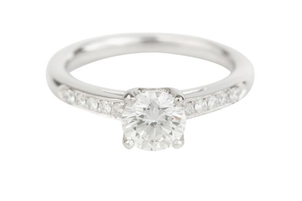 NCJ11511 Certificated Diamond Engagement Ring in Platinum (GIA 1.00ct F VS 1; Total - 1.22ct)
