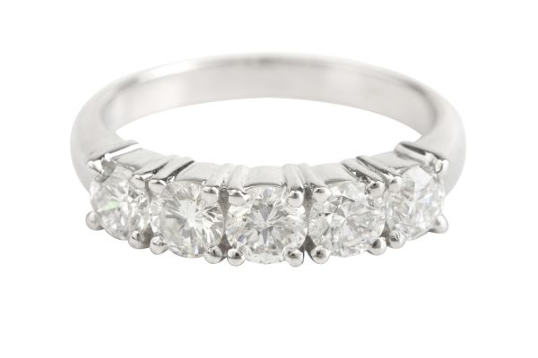 SE13505 Diamond Half Eternity Ring in Platinum (1.25ct)