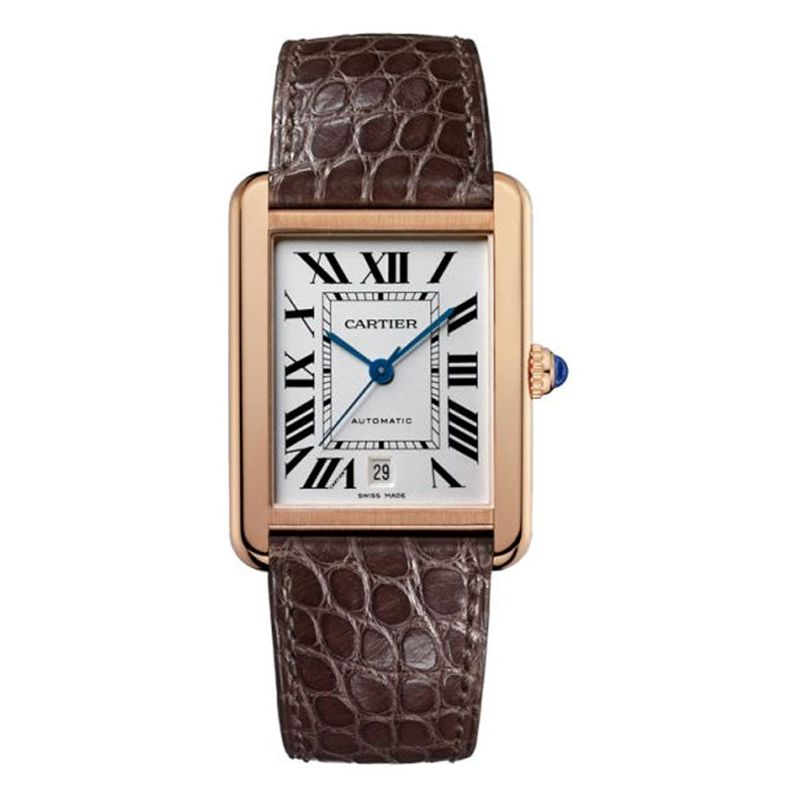 W5200026 Cartier Tank Solo XL Steel & 18ct Pink Gold